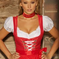 Karolina Witkowska dressed in Sexy Oktoberfest Outfit (Playboy Germany)