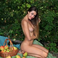 Fresh And Young Susza Collectin Apples Naked
